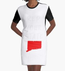 REP YOUR STATE CONNECTICUT Graphic T-Shirt Dress