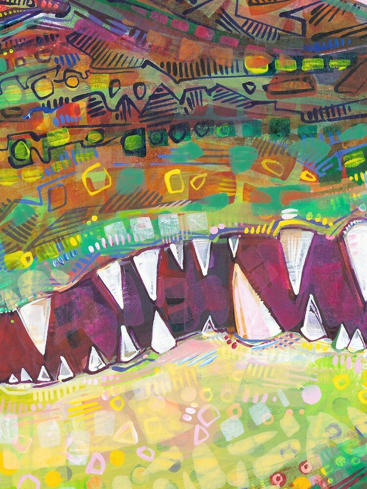 Crocodile Painting - 2015 by gwennpaints