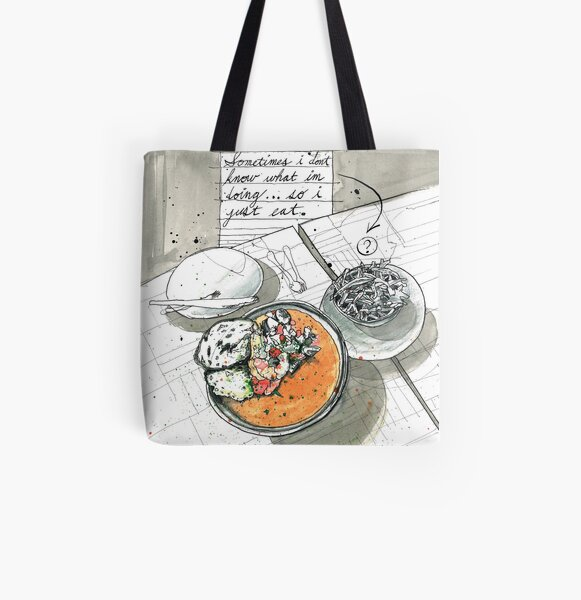 Just Eat All Over Print Tote Bag