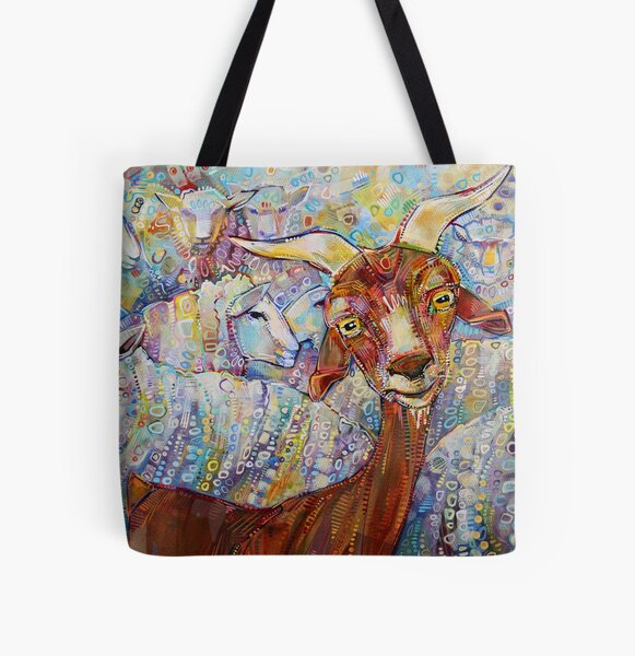 Goat/Sheep Painting - 2014 All Over Print Tote Bag