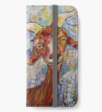 Goat/sheep painting - 2014 iPhone Wallet/Case/Skin