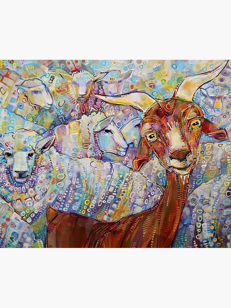 Goat/sheep painting - 2014 by gwennpaints
