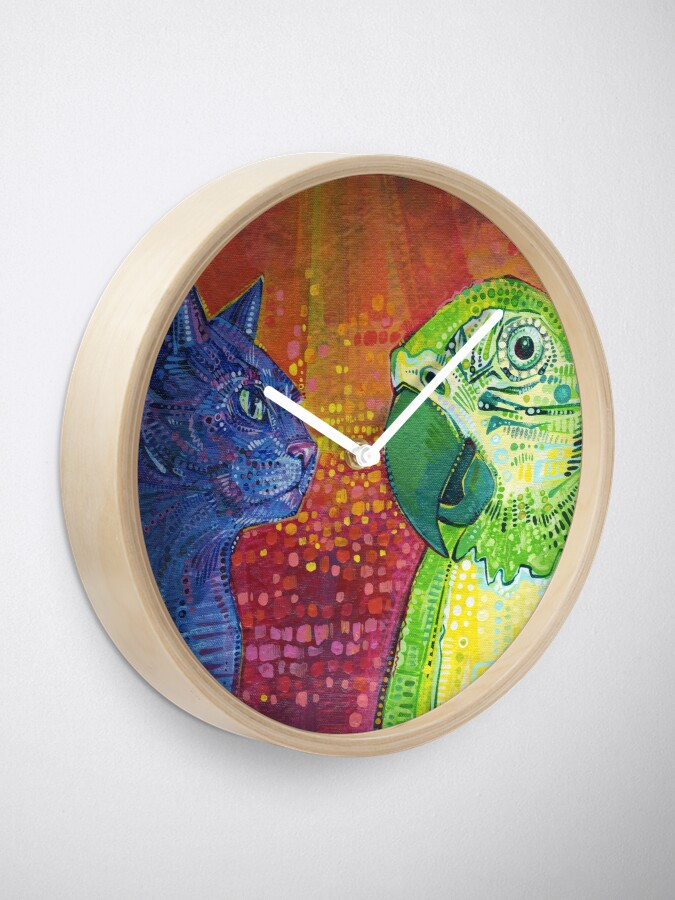 Alternate view of Making Language #2 Painting - 2014 Clock