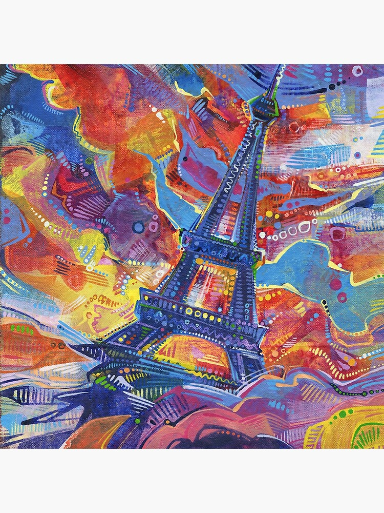Eiffel's tower painting - 2014 by gwennpaints