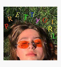 Clairo pretty girl album cover Photographic Print