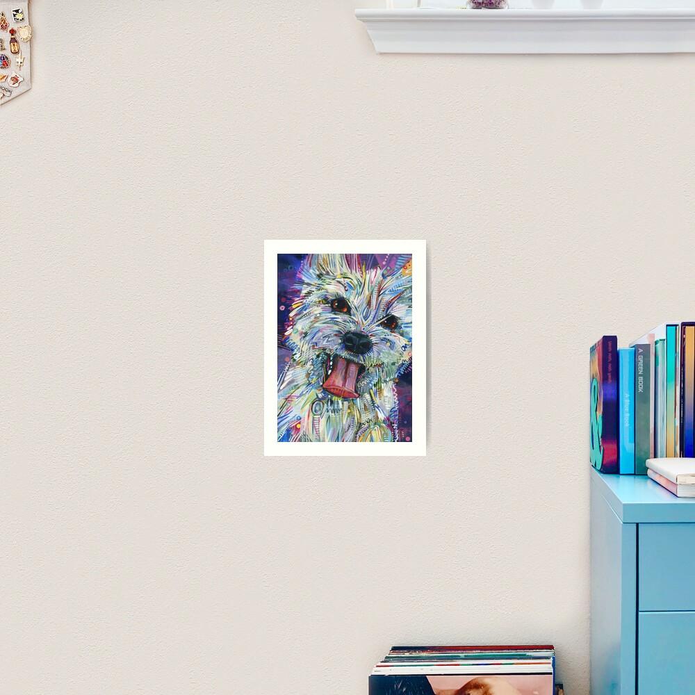 Westie mix painting - 2012 Art Print