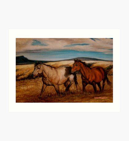Prairie Pastures Detail Study Art Print