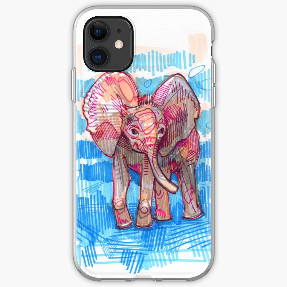 Elephant baby drawing - 2011 iPhone Case & Cover