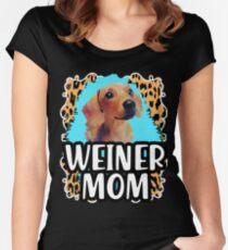 Weiner mom dachshund mom lover Women's Fitted Scoop T-Shirt