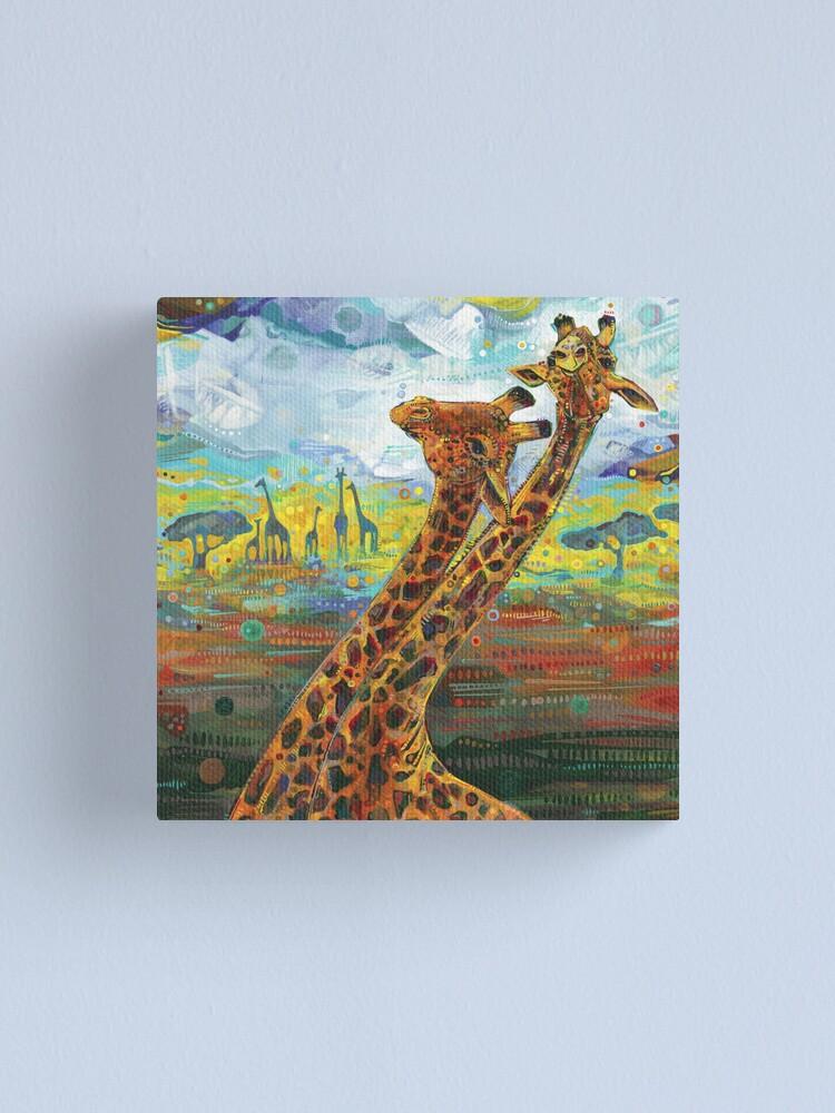 Alternate view of Giraffes painting - 2012 Canvas Print