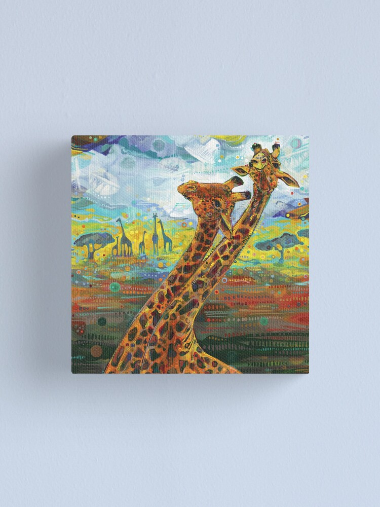 Alternate view of Giraffes painting - 2012 Canvas Print