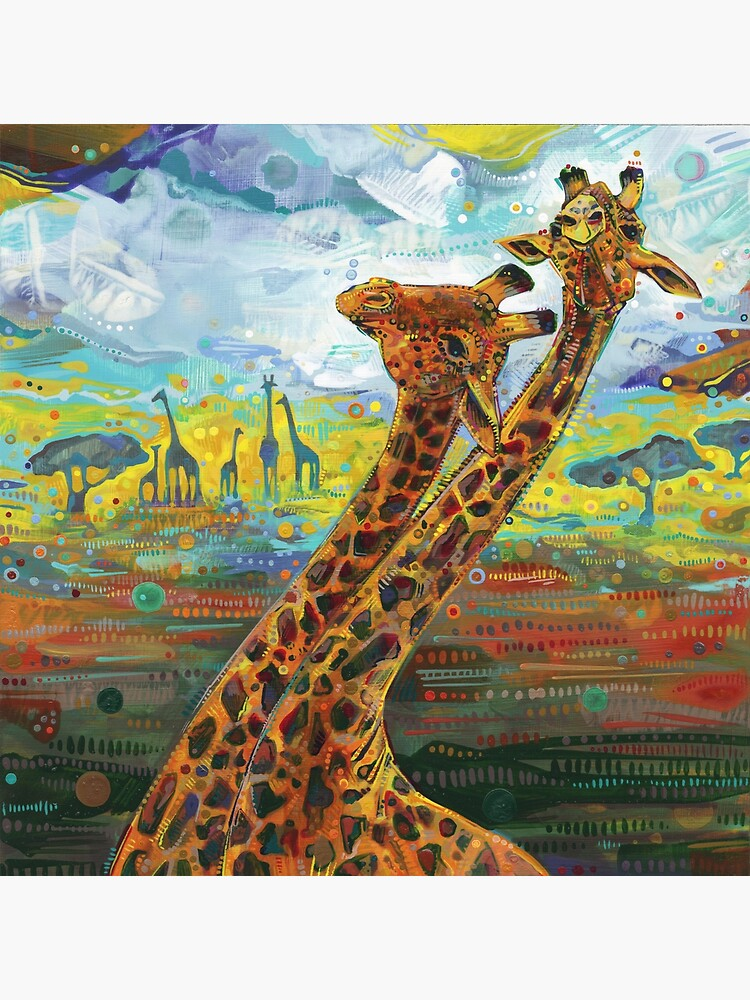 Giraffes painting - 2012 by gwennpaints