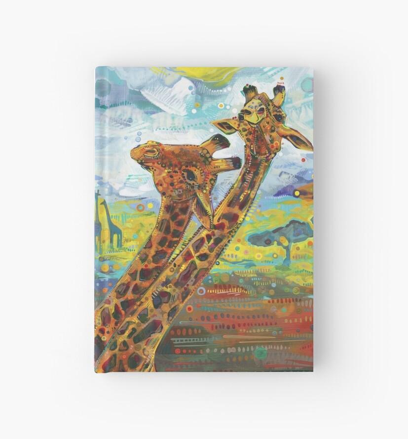 Giraffes painting - 2012 by Gwenn Seemel