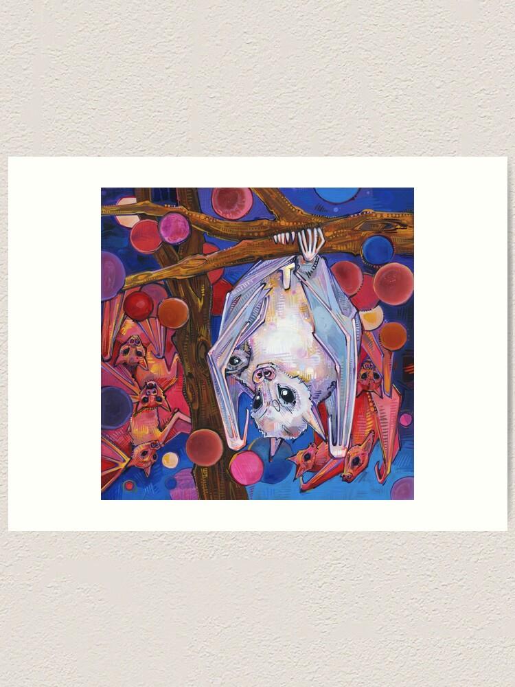 Alternate view of Dayak Fruit Bats Painting - 2012 Art Print