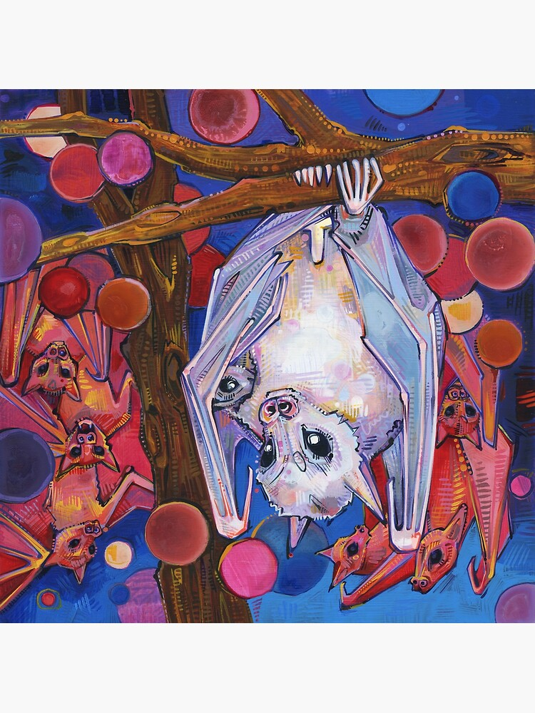 Dayak Fruit Bats Painting - 2012 by gwennpaints