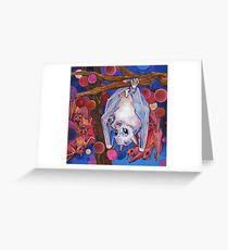 Dayak fruit bats painting - 2012 Greeting Card