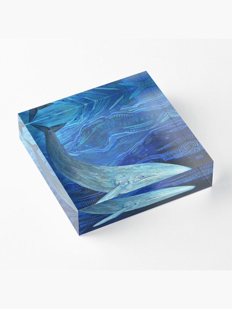 Alternate view of Blue whale painting - 2012 Acrylic Block