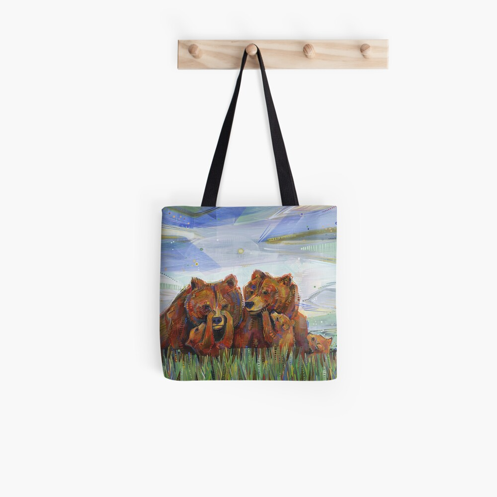 Grizzly Bears Painting - 2012 Tote Bag