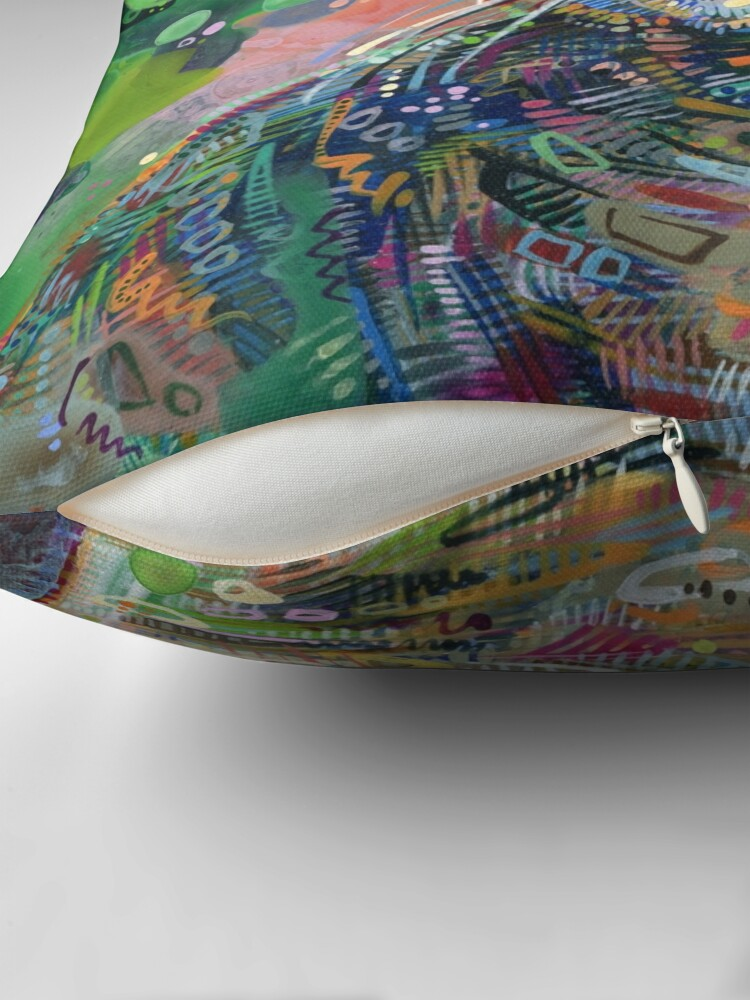 Alternate view of Cat Painting - 2011 Throw Pillow