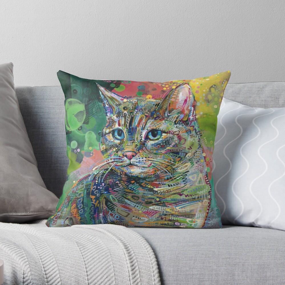 Cat Painting - 2011 Throw Pillow