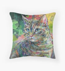Cat painting - 2011 Throw Pillow