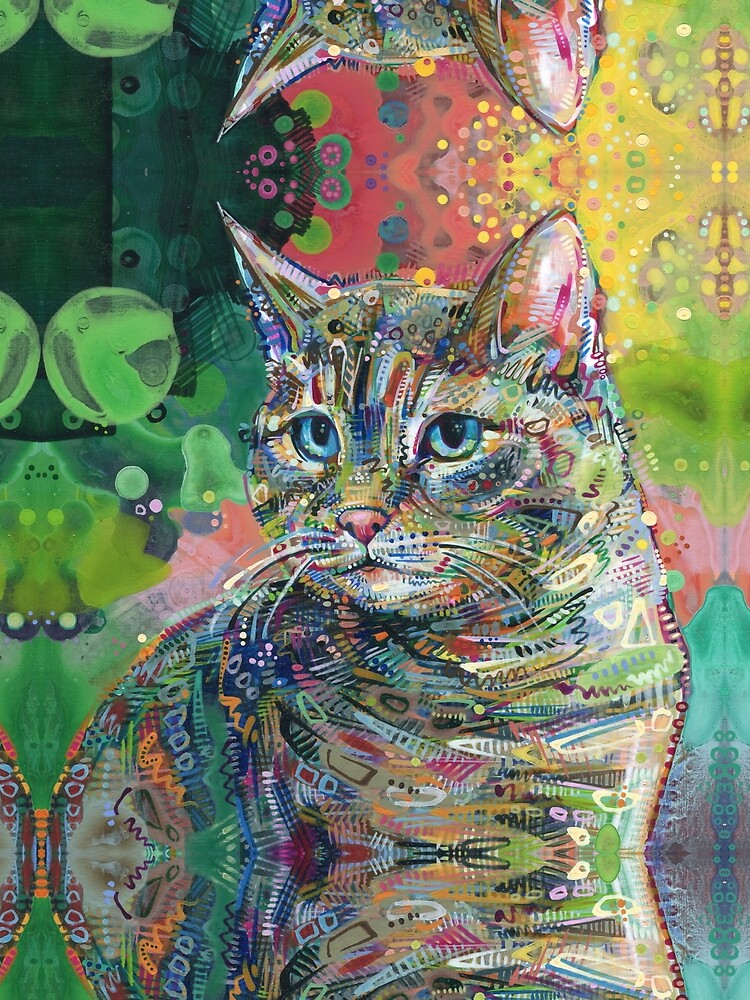 Cat painting - 2011 by gwennpaints