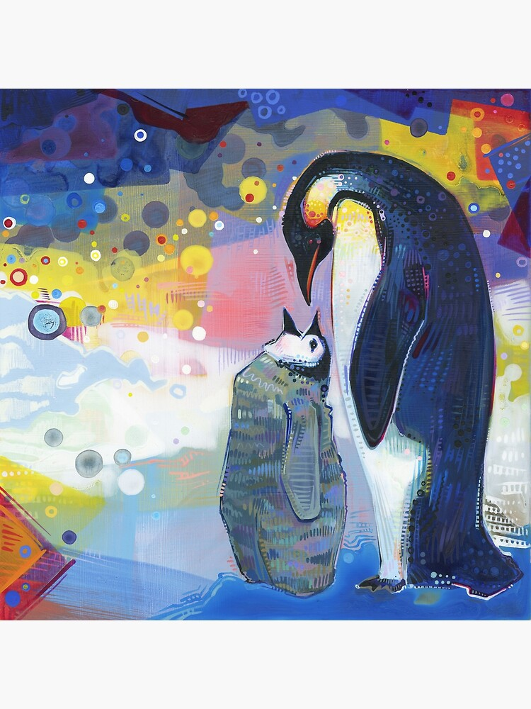 Emperor penguins painting - 2012 by gwennpaints