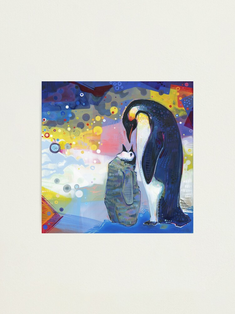 Alternate view of Emperor penguins painting - 2012 Photographic Print