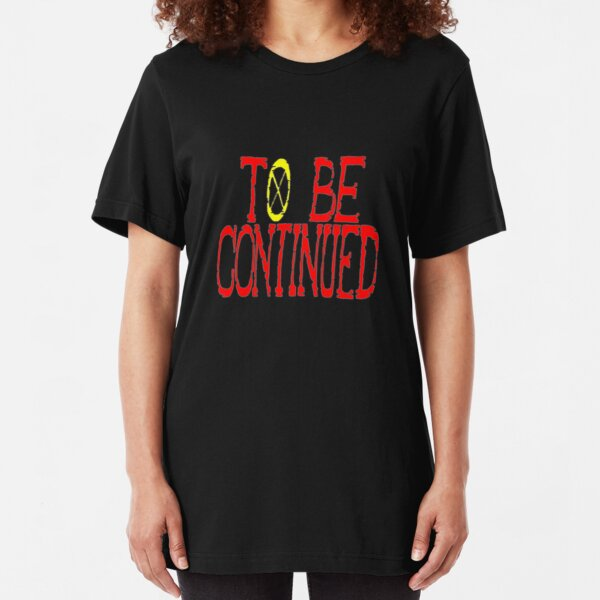One Piece To Be Continued Slim Fit T-Shirt