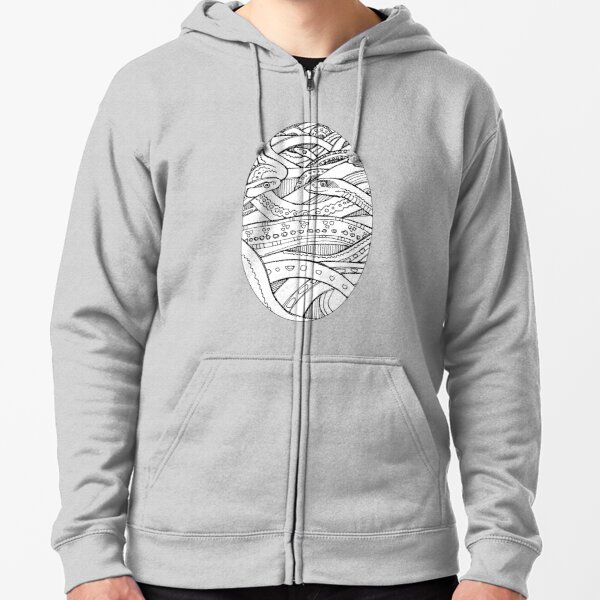 Red-sided Garter Snake, Coloring Book Image Zipped Hoodie