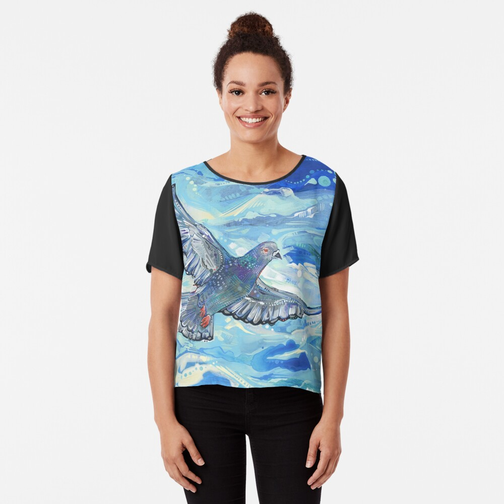Rock pigeon painting - 2012 Chiffon Top