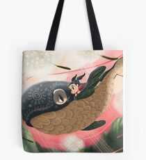 The Little Girl and her Sky Whale Tote Bag