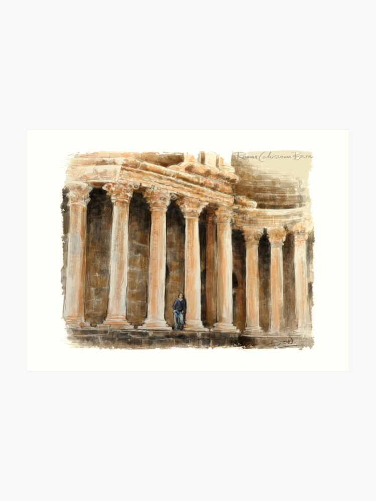 Old Roman Coliseum Ruins of Bosra Posters, T-shirts and Gifts | Art Print