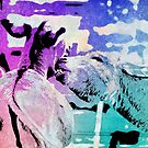 Donkey bites in watercolor by eyes4nature