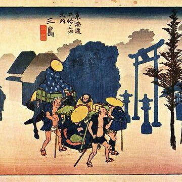 Dawn Mist by Utagawa Hiroshige (Reproduction) by RozAbellera