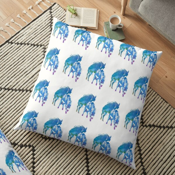 Frisky Donkeys Floor Pillow