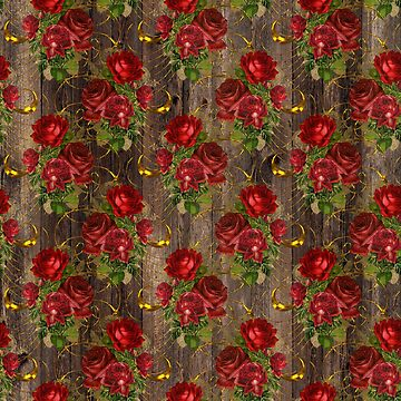 Rustic Red Rose Pallet by 4Craig