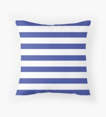Stripy Navy Throw Pillow