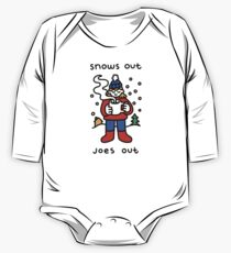 Snows Out Joes Out Long Sleeve Baby One-Piece