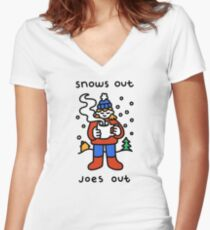Snows Out Joes Out Fitted V-Neck T-Shirt