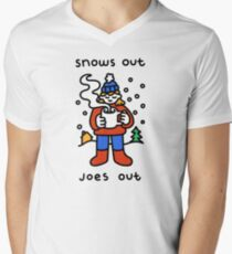 Snows Out Joes Out V-Neck T-Shirt