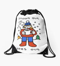 Snows Out Joes Out Drawstring Bag