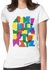 Paper alphabet Womens Fitted T-Shirt
