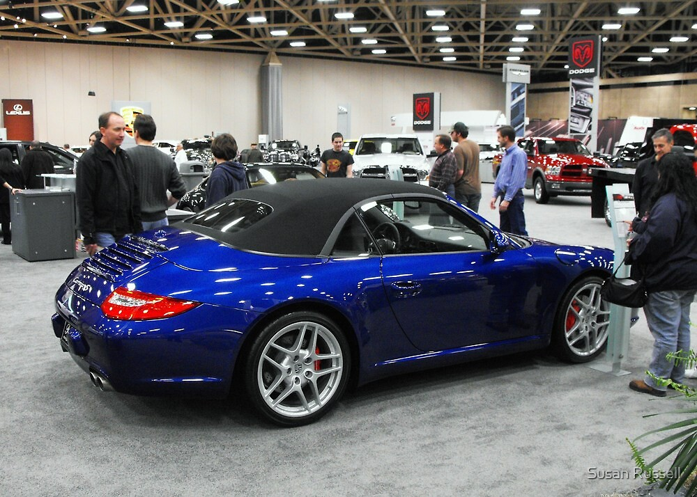 Shiny Blue Convertible At Dallas Car Show By Susan Russell Redbubble - Dallas car show