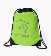 Vectorize it Drawstring Bag