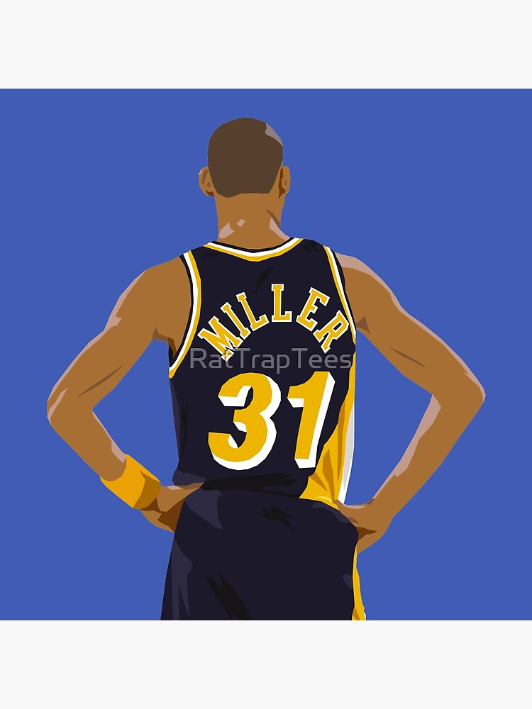 Reggie Miller Back-To by RatTrapTees