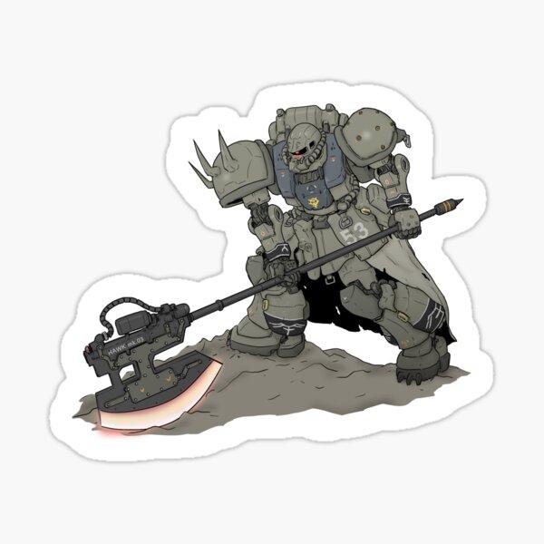 Zaku Gundam Mobilesuit Sticker