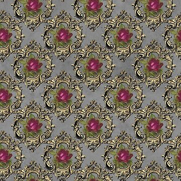 Baroque Rose Pattern by 4Craig