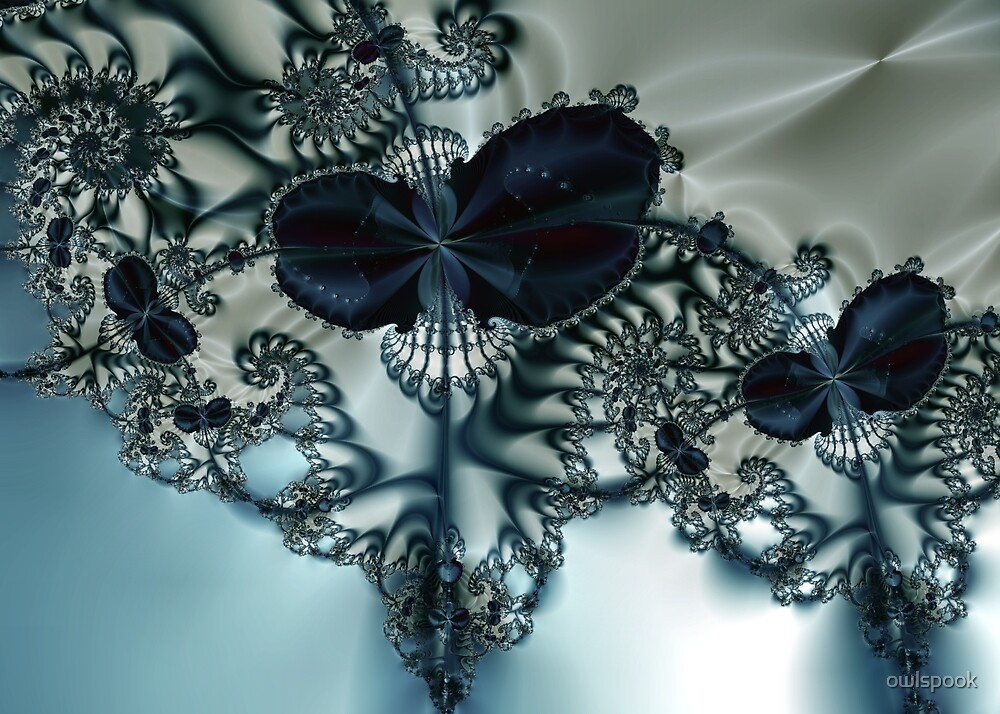 Blue Butterfly Lace III by owlspook