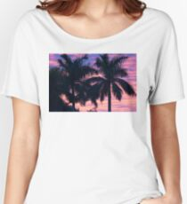 Palm Trees and Sunset Women's Relaxed Fit T-Shirt